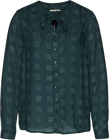 Blouse Allover Corina Squares Park Green from watMooi