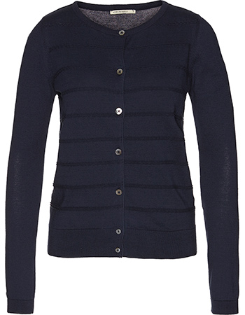 Strick Cardigan Solid Neve Chain Stripes Navy from watMooi