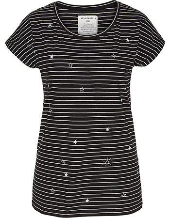 T-shirt Liv Star Sky Black Off White from watMooi