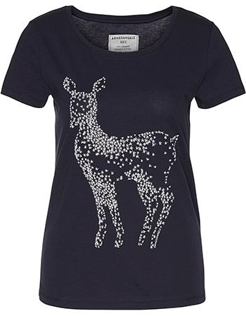 T-shirt Print Mari Twinkle Deer Navy from watMooi