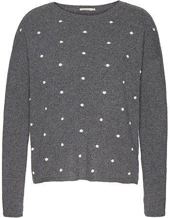 Trui Allover Evina Dots Mid Grey Melange from watMooi
