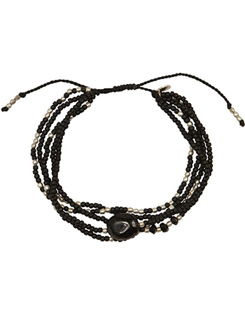 Armband Zilver Blossom Black Onyx from watMooi