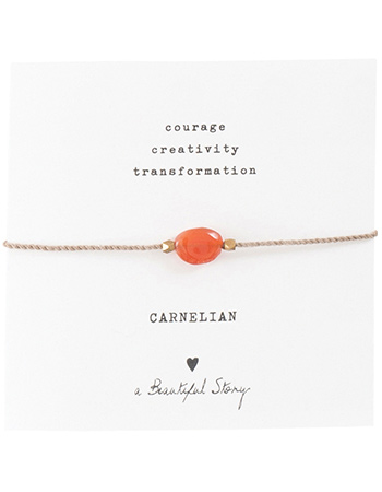 Armband Gemstone Card Carnelian Gold