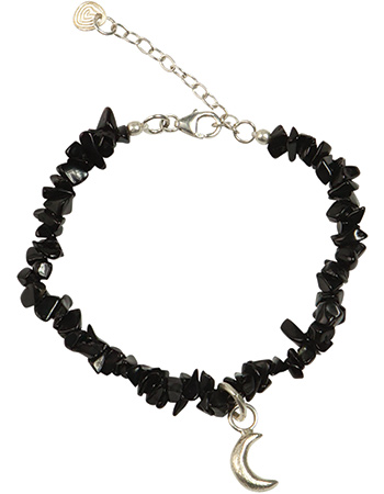 Armband Power Black Onyx Moon Silver from watMooi