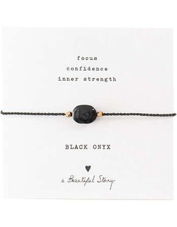 Armband Gemstone Card Black Onyx Gold