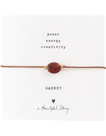 Armband Gemstone Card Garnet Gold