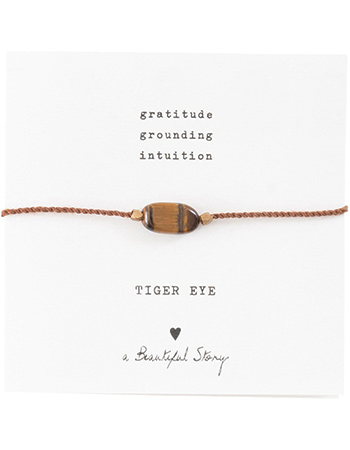 Armband Gemstone Card Tiger Eye Gold