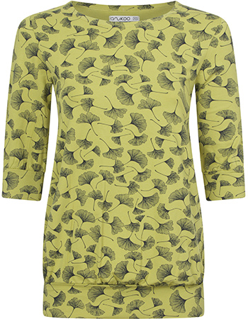T‑shirt Met Boord Ginko Lime