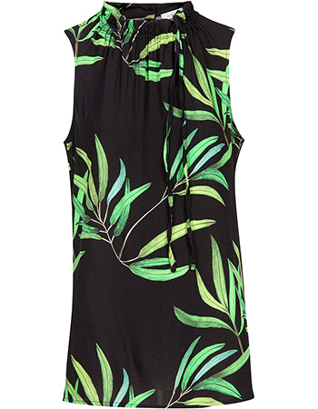 Top Mouwloos Olive Print from watMooi