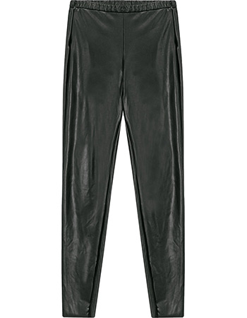 Legging Vegan Leather Look Black
