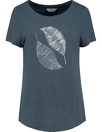 T‑shirt Scribble Leaves Denim