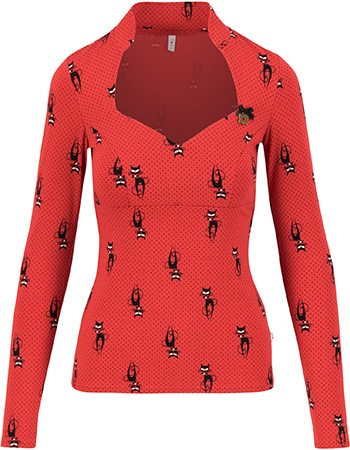 Longsleeve Miraculous Power Kitties Lover Red