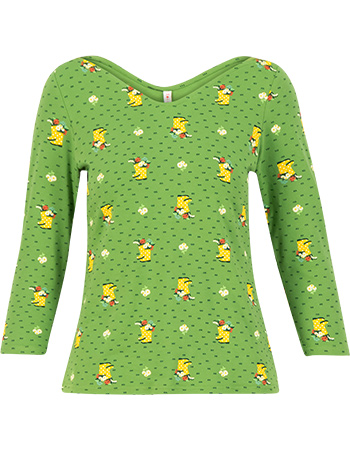 Shirt Happy Swallow Yellow Wellys Green