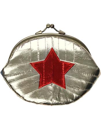 Portemonnee Clutch Granny Star Silver from watMooi