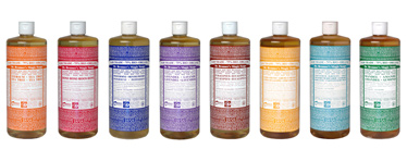 dr Bronner's magic soap collectie
