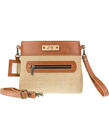 Cross Body Clover Camel