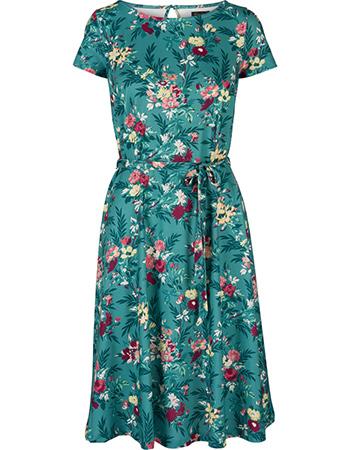 Jurk Betty Woodrose Emerald Blue from watMooi