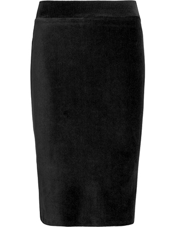 Rok Tube Rib Velours Black