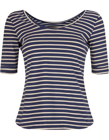 Shirt Ballerina Breton Stripe Nuit Blue from watMooi
