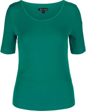 Shirt Carice Uni Rib Tencel Waterfall Green from watMooi