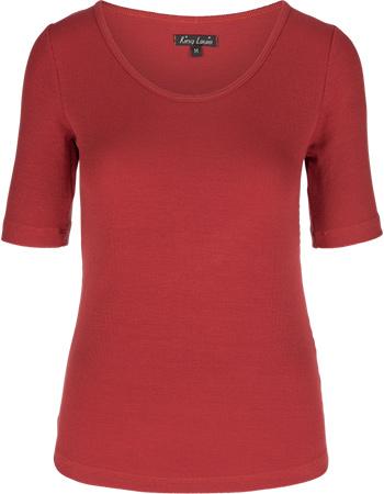 Shirt Carice Uni Rib Tencel Rio Red from watMooi