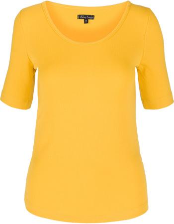 Shirt Carice Top Uni Rib Tencel Fusion Yellow from watMooi