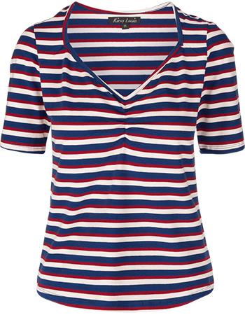 Shirt Diamond Skipper Stripe Royal Blue from watMooi