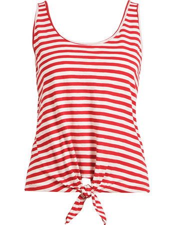 Top Knot Singlet Stripe Royale Chili Red