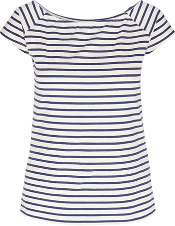 Shirt Tina Breton Stripe Cream from watMooi