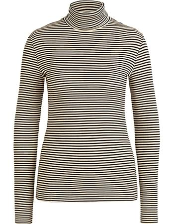 Longsleeve Col Tweedy Stripe Black