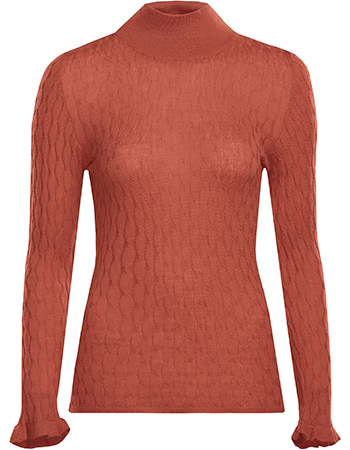 Trui Ira Turtle Neck Wol Rose from watMooi