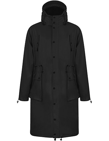 Regenjas Parka Light Weight Black