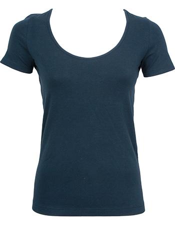 Shirt Elle Ronde Hals Dark Navy from watMooi