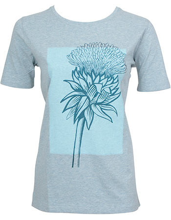 T-shirt Thistle Plane Heather Ice Blue from watMooi