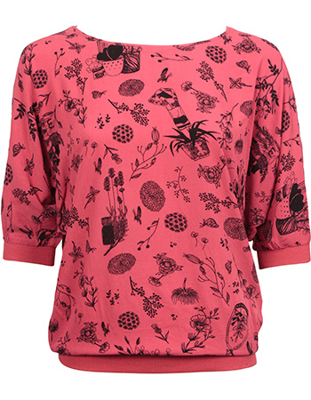 T-shirt Vleermuis Iver Red from watMooi