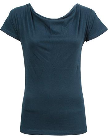 T-shirt Watervalhals Bat Dark Blue from watMooi