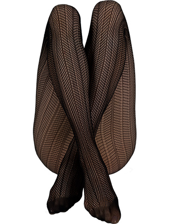 Panty Astrid Fishnet Zwart 40 Denier from watMooi
