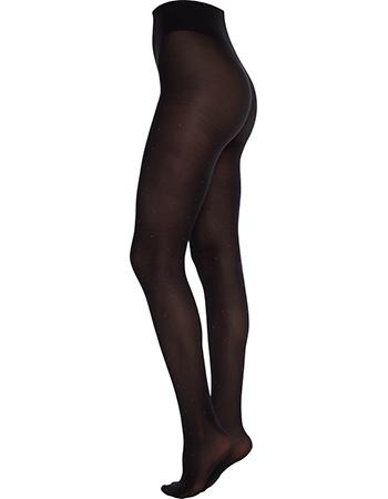 Panty Fillipa Dots With Sparkling Zwart 50 Denier from watMooi
