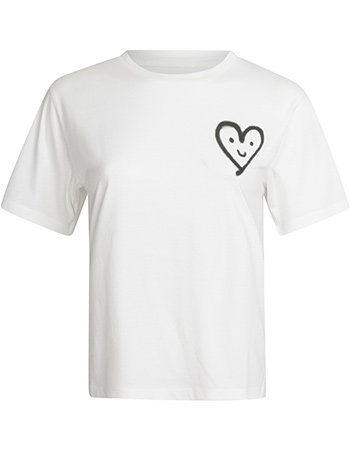 T‑shirt Cutre Heart White