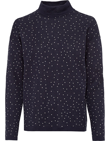 Trui Allover Riley Splashes Navy from watMooi