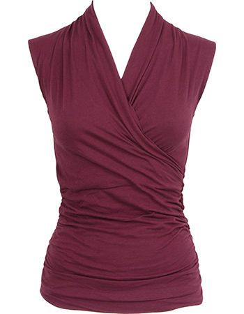 Yoga Top Good Karma Deep Cherry